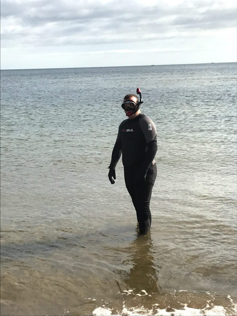 Mark Wilcox takes to the sea on our beach clean
