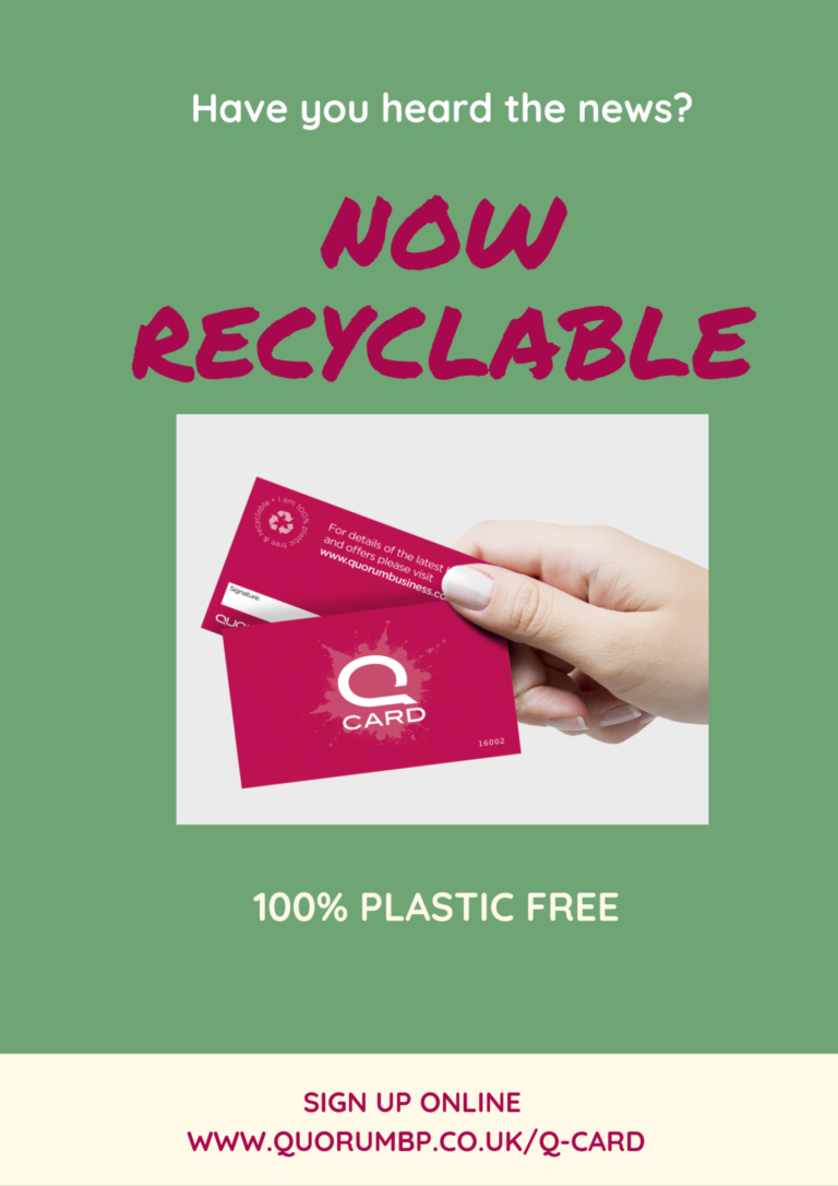 Q Card Now Recyclable