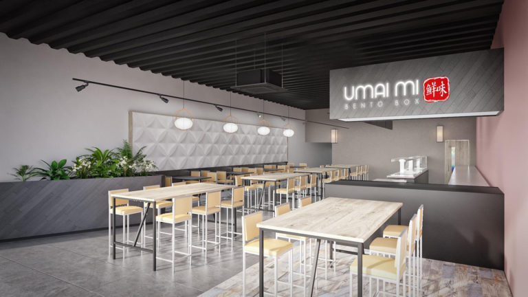 Umai Mi Bento fitting out at Quorum Business Park offices based in Newcastle
